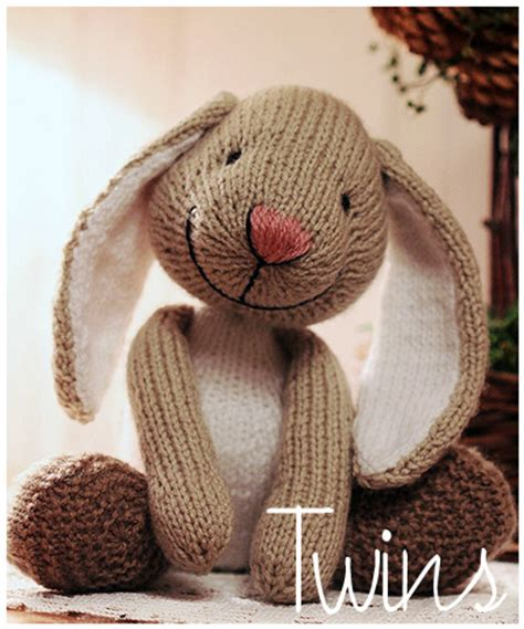 rabbit knitting knitted toys big foot knitted rabbit