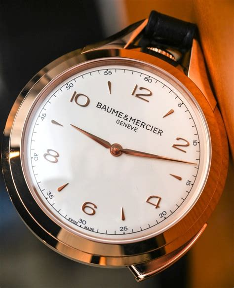 Handmade Swiss Watches Manufacturers - 50 000 baume mercier clifton 1830 pocket review