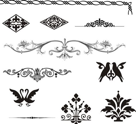 magazine design elements vector european gorgeous pattern element vector free vector 4vector