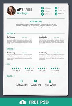 ready cv format download free creative resume template in psd format pinteres