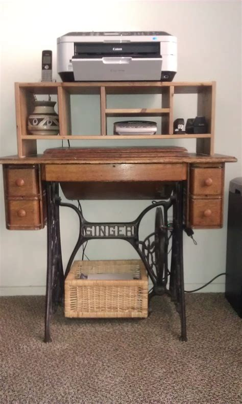 used sewing machine cabinet old singer sewing machine cabinet used as a printer stand
