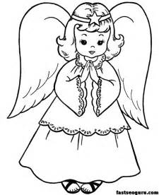 christmas angels coloring print kids