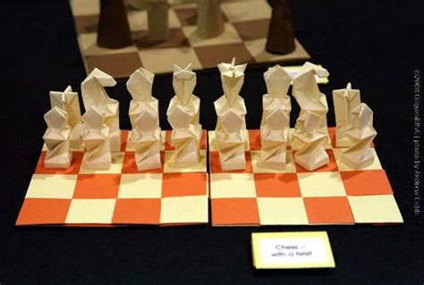 How To Make A Paper Chess Set - chess set origami products i origami