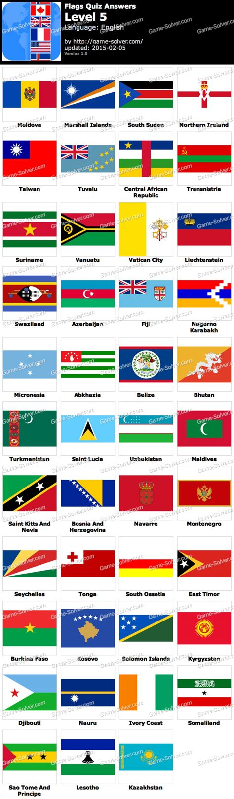 flags of the world game answers flags quiz level 5 game solver