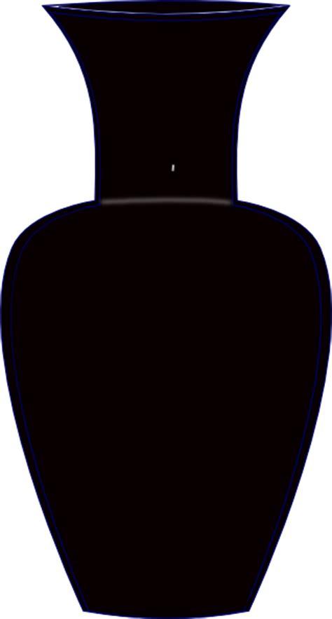 Vase Clipart Black And White by Black Vase Clip At Clker Vector Clip