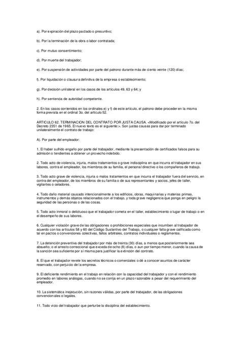 descargar codigo sustantivo de trabajo colombiano 2016 articulo 62 y 64 del codigo sustantivo de trabajo y la