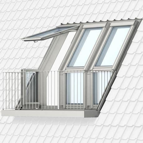 lade da terrazzo vom fenster zum dachbalkon oder dachaustritt velux