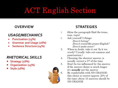 act english section four year college bound students only ppt download