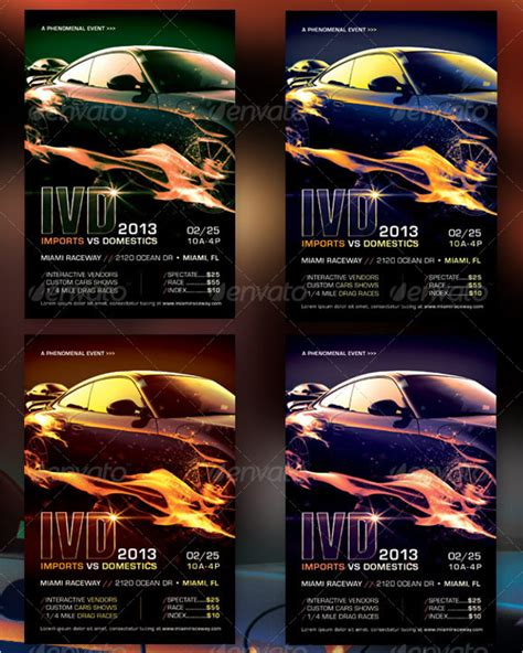 35 Racing Flyer Templates Free Psd Word Designs Free Race Flyer Template