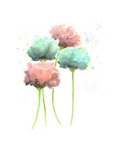 water color flowers country cottage decor watercolor flowers watercolor