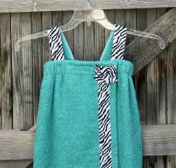 bath towel wraps with straps child s towel wrap spa wrapaqua blue with zebra print