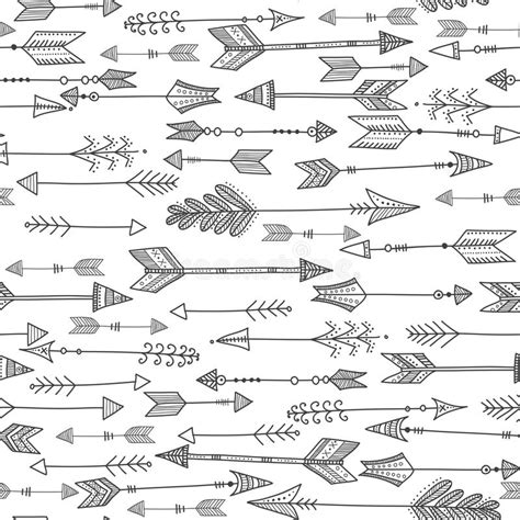 tribal pattern arrows vector seamless black and white ethnic pattern with tribal