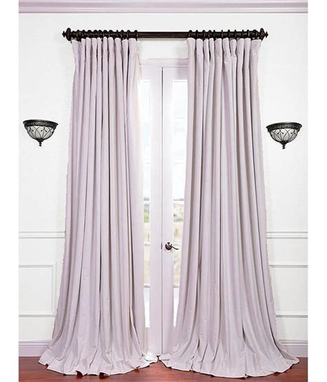 off white blackout curtains signature off white double wide velvet blackout curtains