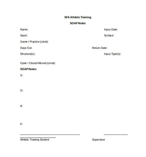 soap note template word soap note templates