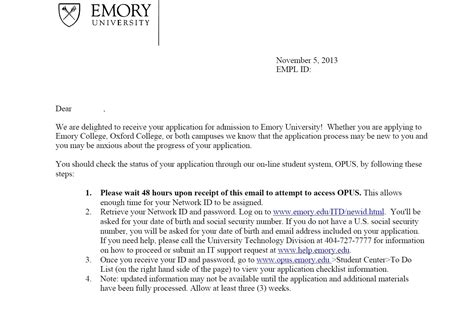 School Waitlist Letter Of Recommendation Application Letter To Dean
