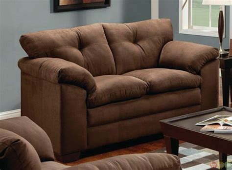 microfiber couch and loveseat simmons luna brown microfiber sofa and loveseat set