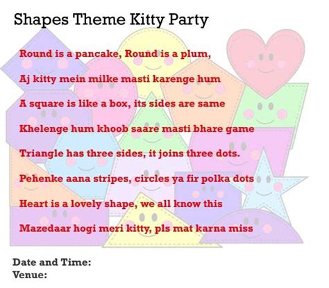 printable games for ladies kitty party shapes theme kitty party invitation idea kitty party