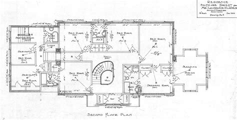 plan drawing residence biltmore forest mr lawrence h jones second