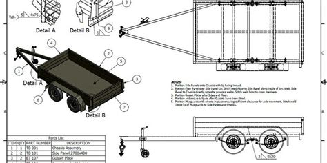 Tandem Box Utility Trailer Trailer Plans Build Your Building Plans For Utility Trailers