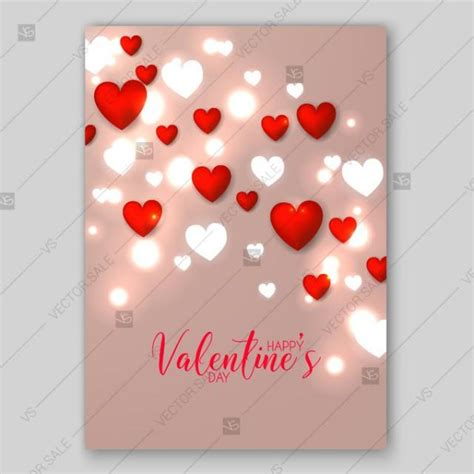 valentines day card square template valentines day card invitation free vector printable