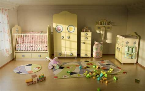 schöne kinderzimmer deko idee gelb babyzimmer