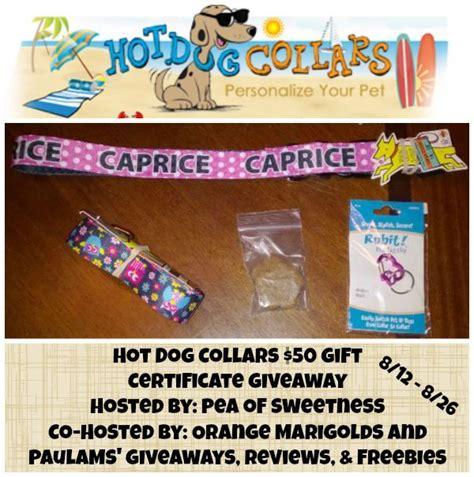 Dog Giveaways - hot dog collars giveaway ends 8 26 hotdogcollars