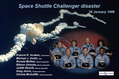when did the space shuttle challenger up wangard january 2016