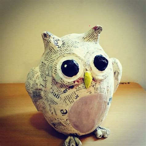 Paper Mache Crafts For Adults - owl paper mache paper mache owl paper