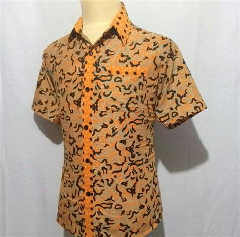 Baju Kemeja Batik Pria Cowo Laki Motif Kollo Batik Printed jual kemeja baju hem batik pria cowok laki slimfit junkies motif combi h10 javabatika