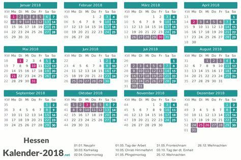 ferien hessen 2018 ferienkalender 220 bersicht
