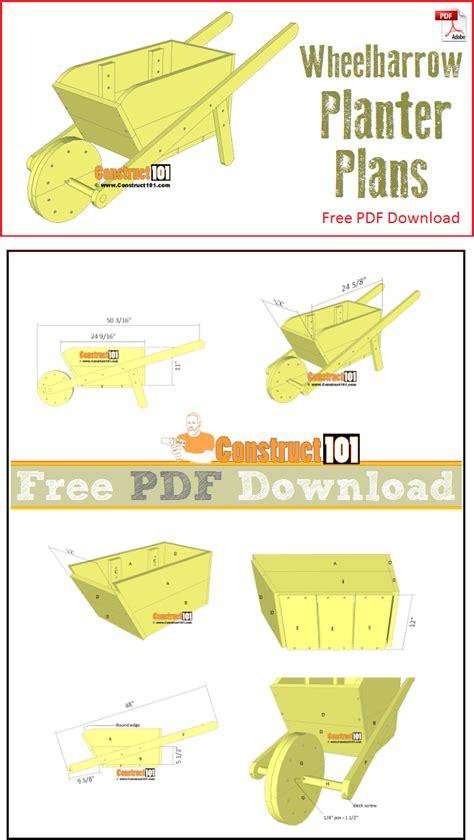 wheelbarrow planter plans