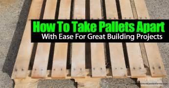 how to build a canstruction project how to take pallets apart with ease for great building
