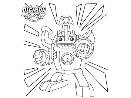 X2 Coloring Page by Coloriage Ballistamon Activit 233 S Goodies Digimon