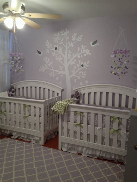 Twin Girl Nurseries Twin Girls And Twin On Pinterest When Is Baby Big For Crib