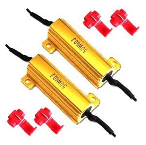 led resistor pairing 50 w 6 ohm led load resistors for led turn signals pair yotamasters