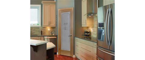 flush pine interior door  pantry glass