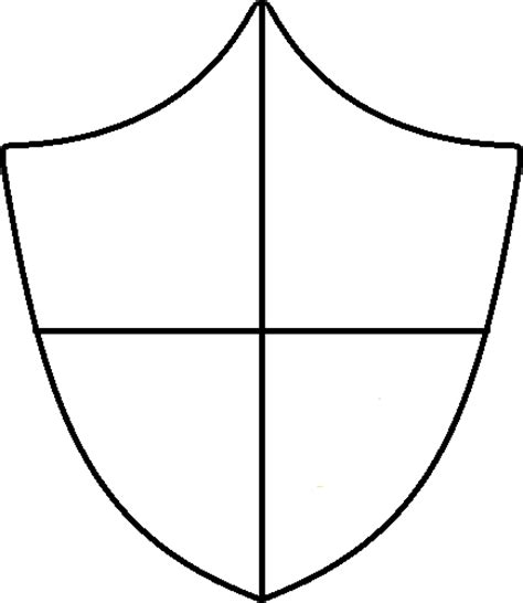 Crest Designs Outline by Crest Outline Blank Clipart Best