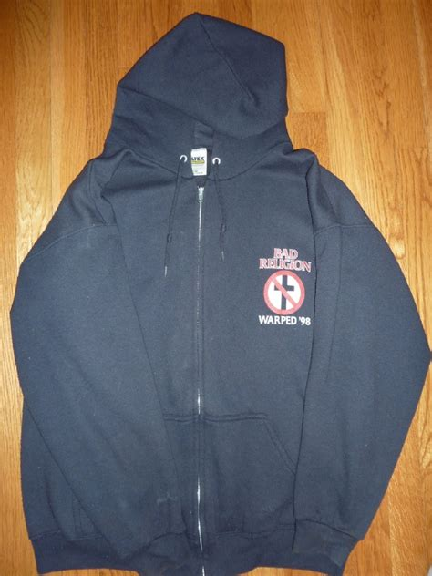 Jaket Sweater Hoodie Zipper Bad Religion zipped warped 98 hoodie collectibles the bad religion page since 1995