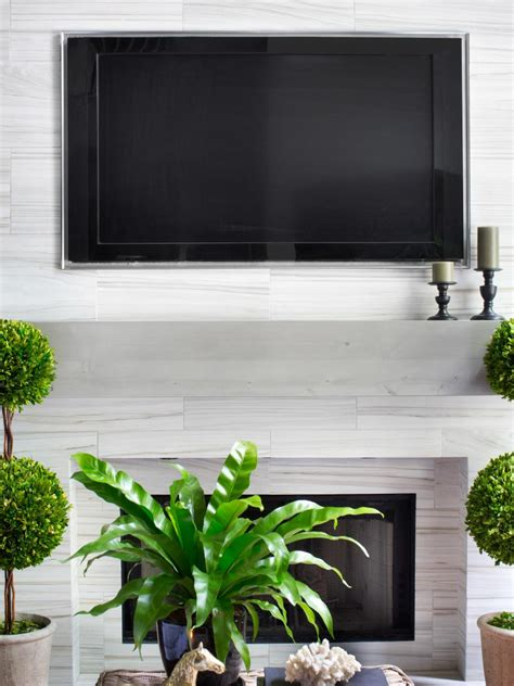 Installing A Tv A Fireplace by Installing A Tv Above The Fireplace Hgtv
