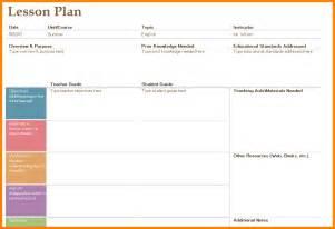 Teacher Lesson Planner Template Teacher Lesson Plan Template Business Plan Template