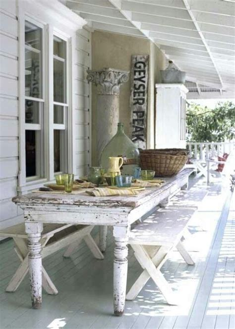 shabby chic porch porch pinterest