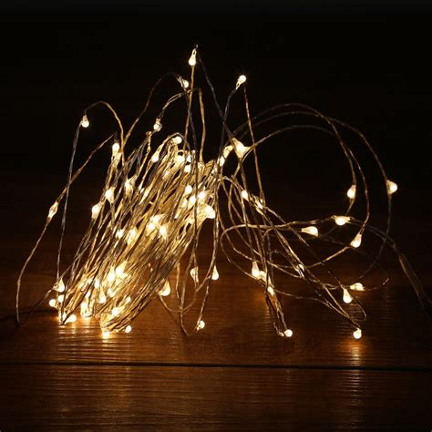 String Lights Led Outdoor 10m 100led Led String Lights Outdoor Lights Warm White Silver Wire Led Starry