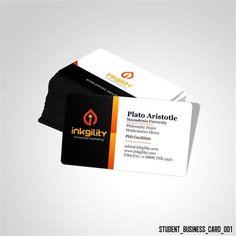 free student business card template 18 student business cards free printable psd eps word