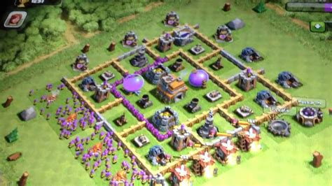 layout of coc level 7 clash of clans level 7 townhall defence layout youtube