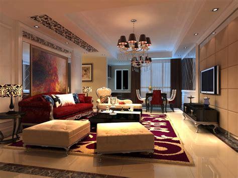 maroon living room 3d model living room with maroon carpet cgtrader