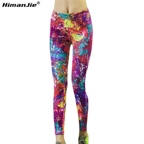 colorful pattern yoga pants himanjie new sexy women s sports yoga pants colourful