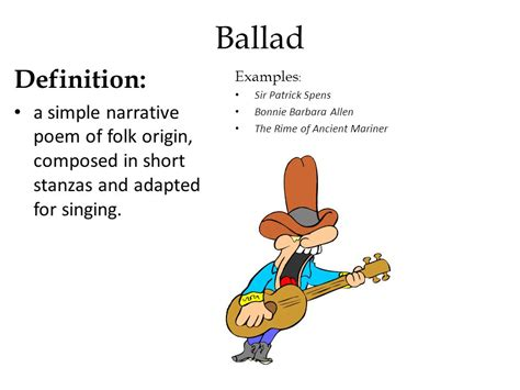 exle of ballad sol reading literary terms review ppt