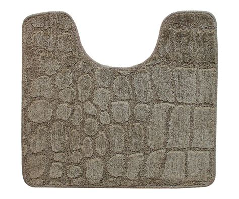 tapis toilettes tapis contour wc toilette lavabo tendance croco chic naturel zen taupe 3206
