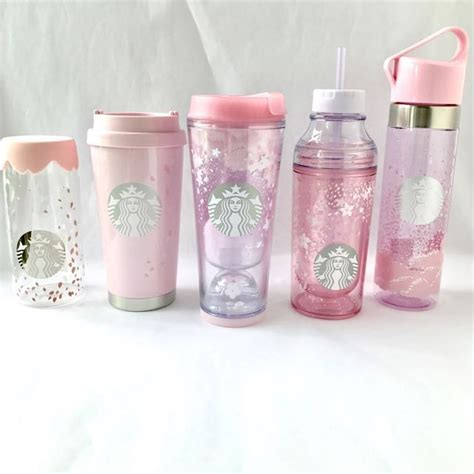 Starbucks Tumbler With Leather On Summer 2017 Part 2 Edition limited edition starbucks korea blooming cherry blossom 2017 collection bottle tumblers