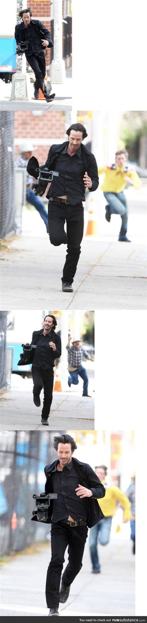 Keanu Reeves Runs The Paparazzi by Keanu Reeves Just Casually Running With Paparazzi S